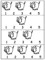 Pig Worksheet use with numbers 1 through 5