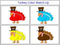 Turkey Color Match Up Game Purple and Gray