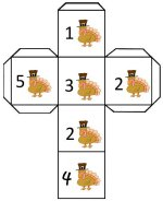 Turkey Number Cube Die – Shake The Cube