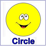 Toddler Shape Display – Yellow circle  for October's lesson plans