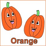 Toddler Color Display – Color Orange – Orange Pumkins