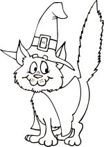 Halloween Cat – Color The Picture