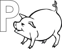 pig coloring letter toddler july curriculum activity