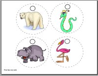Polar bear story cards for babies ages 6 to 9 months, storybook week for December week 1