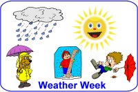 Toddler April Week 1 Poster for weather week theme