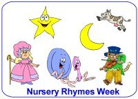 Toddler August Week 2 Poster nursey rhymes week theme