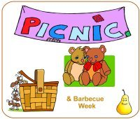 Toddler August Week 3 Poster for picnics and barbecues week theme