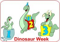 Toddler August Week 4 Poster for dinosaur week theme