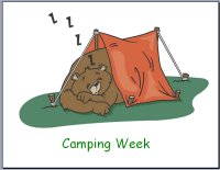Preschool Camping Theme Poster