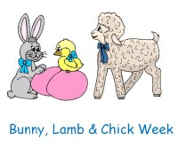 Bunny, Lamb & Chick Poster