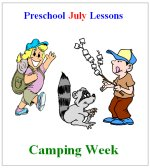 Preschool lessons for a camping theme