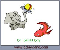 March Preschool Curriculum Dr. Seuss Theme One Day Free Sample