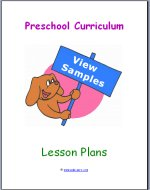 Preschool Curriculum Lesson Plans Free Samples