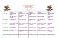 Preschool Calendar for October Week 3, Fall Preschool Theme