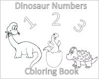Toddler Activities – 10 Dinosaurs Coloring Page Cover