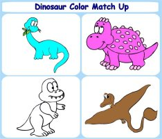 Toddler Activities – Dinosaur Color Match Up Game