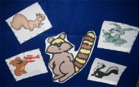 Raccoon and friends activity for toddlers ages 18 months to 2.5 years