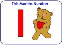 Toddler Number Display – Number 1, Number One