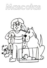Mascotas The Pets Coloring Book in Spanish español