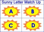 Sunny alphabet Letter Match Up Game