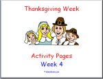 Thanksgiving Theme Preschool Curriculum Activity Pages!!