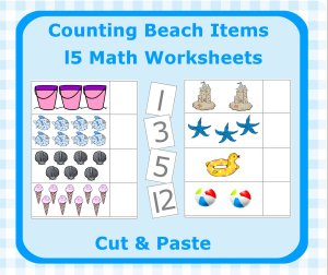 15 Printable Pages For Your Preschool Beach Theme & Free Beach Book