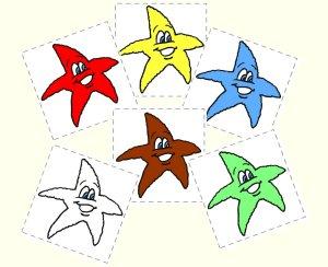 Starfish color pompom match up