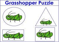 Grasshopper Puzzle For Preschoolers
