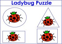 Preschool Ladybug Puzzle
