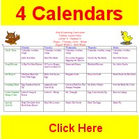 Toddler August curriculum includes 4 weekly calendars