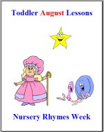 Toddler Lesson Plans for August – Week 2 – Nursery Rhymes Theme