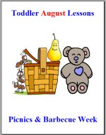 Toddler Lesson Plans for August – Week 3 – Picnics & Barbecues Theme