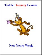 Toddler Lesson Plans for January – Week 1 – New Years Theme