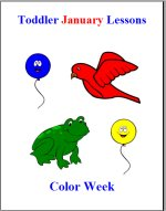 Toddler Lesson Plans for January – Week 3 – Color Theme