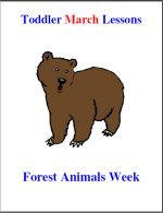 Toddler Lesson Plans for March – Week 1 – Forest Animals Theme