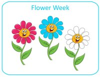 May Lesson Plans - Week 1 - Flower Week Theme for toddlers ages 18 months - 2.5 years