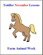 Toddler Lesson Plans for November – Week 1 – Farm Animal Theme