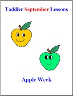 Toddler Lesson Plans for September – Week 4 – Apples Theme