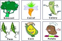 Garden Vegetable Cards to use with the preschool garden game activity