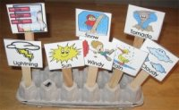 Preschool Weather Display