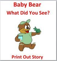 Baby Bear What Did You See? Color Week Story – Printable Book