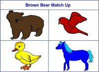 Brown Bear Story Match Up Game