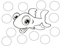 Fish Color Game Black & White