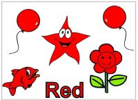 Toddler color red display poster