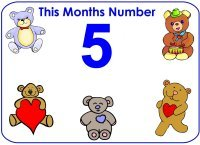 Toddler number 5 five display poster