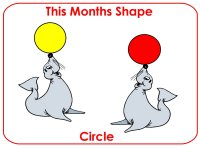 Toddler January shape circle display poster
