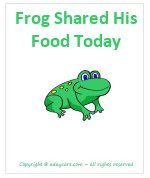 Frog shared his food today book