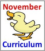 November Preschool ages 2.5 to 6 years