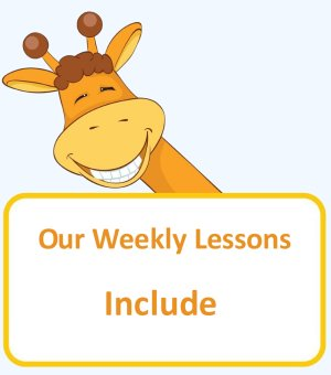 Our weekly lessons include printable pages