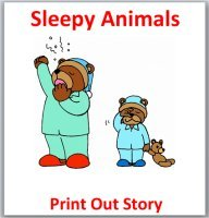 Sleepy Animasl – Hibernation Book – Printable Book